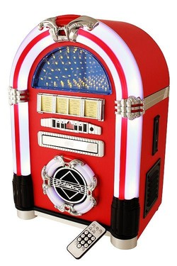 Jukebox, vinilo, radio/Cd/-Mp3/Usb/Sd mando distancia, Cambia de